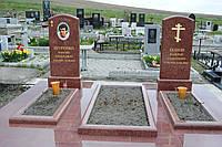 Памятник из красного гранита № 9029