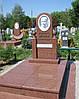 Памятник из красного гранита № 9039