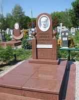Памятник из красного гранита № 9039, фото 1
