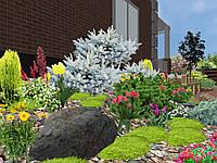Ландшафтный дизайн в 3D. Проект и визуализация озеленения приусадебного участка.