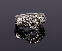 Серебряное кольцо с Рубином «Кобра» от Wickerring, фото 1