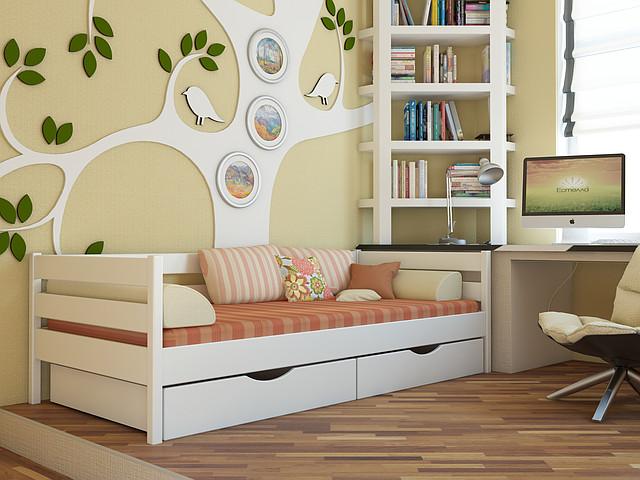 Кровать детская Нота цвет 107 белый
