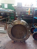 Затвор дисковый поворотный регулирующий с електроприводом ду50-1000