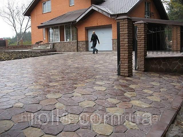 Тротуарная плитка Киевский каштан. Гранилит. .