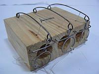 Мышеловка деревянная норка тройная
