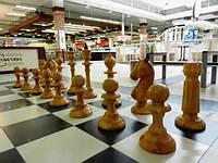 Шахматы напольные уличные из дерева, фото 1