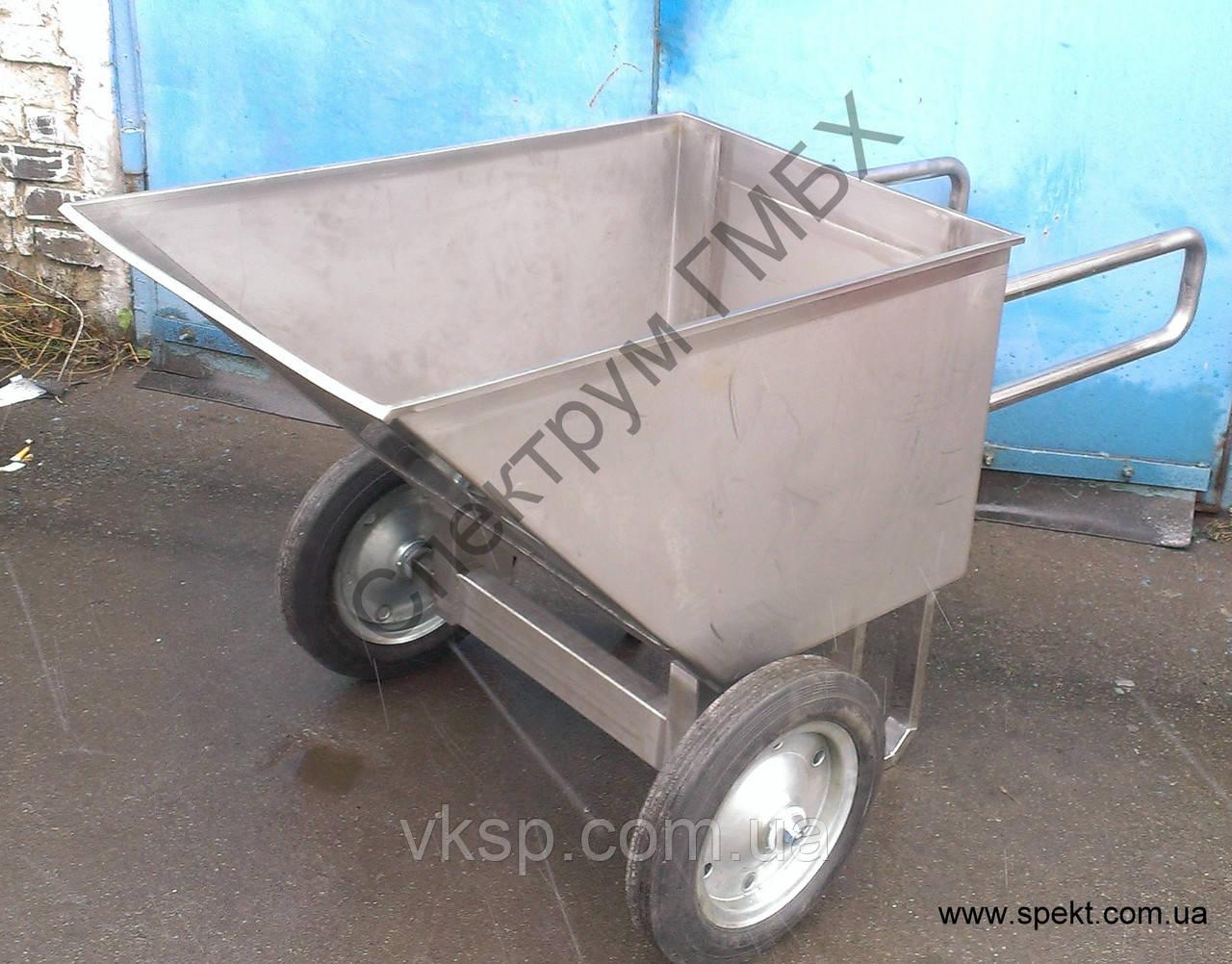 Рикша усиленная, тележка для перевозки творога