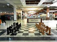 Шахматы большие, садовые-напольные из дерева.