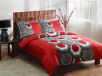 Набор постельного  белья TAC DELUX-Satin семейный ASPEN V04