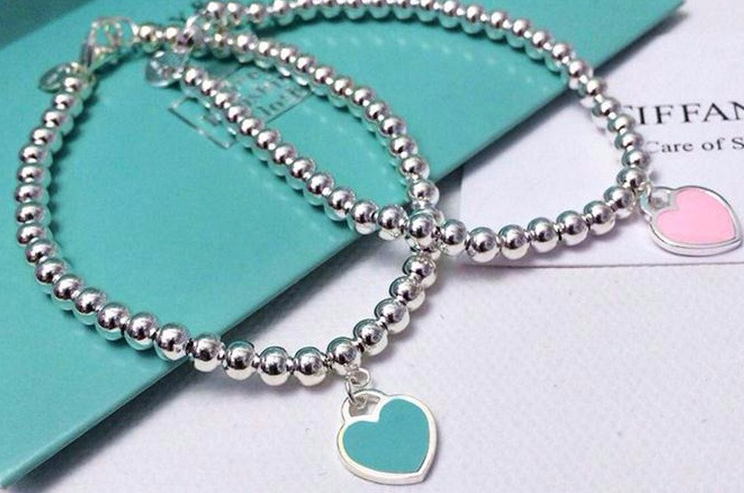 серебряный браслет сердце шарики Tiffany копия 11 в категории
