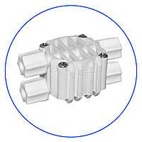 """Четырёхходовой клапан, для систем обратного осмоса, подсоединение 4 x 1/4"""", S-3000W"""