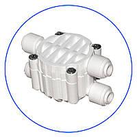 """Четырёхходовой клапан, для систем обратного осмоса, подсоединение 4 x 1/4"""", тип JG. S-3000WJG"""