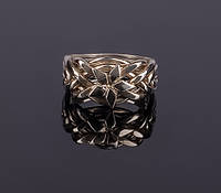 Серебряное кольцо-головоломка «Звезда» от Wickerring