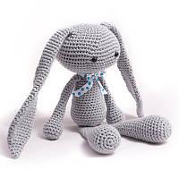 Вязаная игрушка зайчик Митрофан