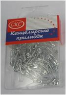 Булавка 1033 100шт английская серебрянная длина 18мм, пластиковая коробка уп12