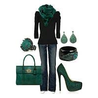 Зеленые сумки.