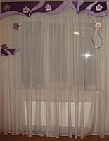 Жесткий ламбрекен Эксклюзив, 2м сиреневый, фото 1