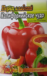 Семена Перца сорт Калифорнийское чудо, пакет 10х15 см