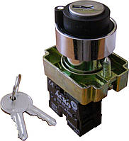 XB2-BG21 Кнопка поворотная с ключом 2-х поз.
