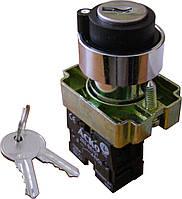 XB2-BG33 Кнопка поворотная с ключом 3-х поз.