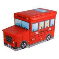 Ящики-сидения для игрушек в виде автобуса (красный)