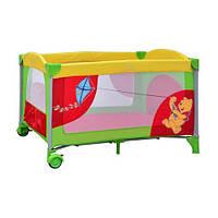 Детская кровать-манеж Винни Пух Бемби А 03 с боковой дверцей на змейке 2 в 1 Bambi