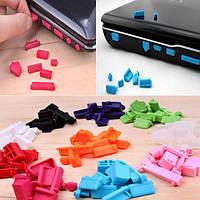 Набор силиконовых заглушек (анти-пыль) для ноутбуков 13 шт. (заглушки)