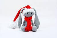 Мягкая игрушка зайчик Банни в костюме Санты