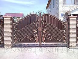 Ворота кованые распашные, код: 01011