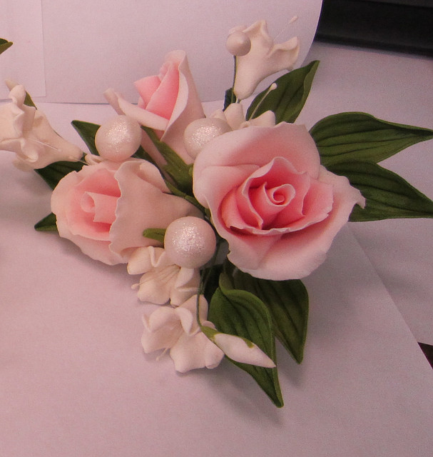 """Авторский букет""""Розы малый розовый """" d155см.Украина - 01147"""
