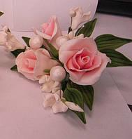 """Авторский букет""""Розы малый розовый """" d155см.(код 01147)"""