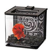 Hagen Marina Betta EZ Care Black аквариум для петушка черный, 2.5л