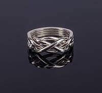 Изящное серебряное кольцо головоломка от Wickerring, фото 1