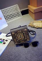 Сумка клатч-скринька з принтом, фото 2