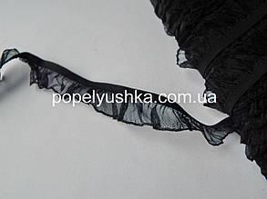 Стрічка-резинка з рюшкою 2 см Чорний