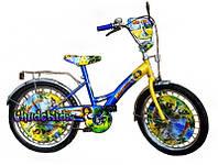 """Детский двухколесный велосипед Mustang """"Мадагаскар"""" 18"""
