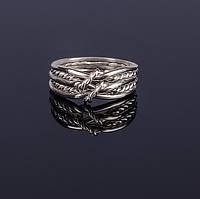 Уникальное серебряное кольцо головоломка от Wickerring