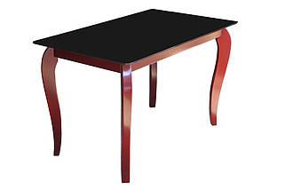 Скляний стіл Імператор Редвуд Блек