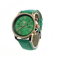 Женские часы Geneva Platinum зеленые