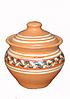 Горшок для запекания глиняный