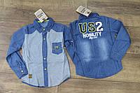 Джинсовая рубашка для мальчиков 3- 4 года