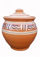 Горшок для запекания глиняный большой