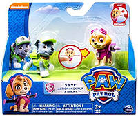 Paw Patrol Skye Action Pack Pup & Rocky Action Figures