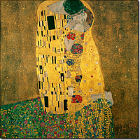 Репродукция картины. Поцелуй. Густав Климт