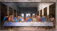 Репродукция картины. Тайная вечеря. Леонардо да Винчи