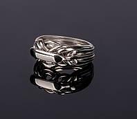 Женское кольцо головоломка из серебра от Wickerring, фото 1