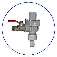 """Регулятор давления, с латунным шаровым клапаном, 1/4"""" под шланг x 1/4"""" под шланг. ADV-REG_K"""