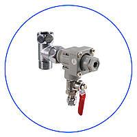 """Регулятор давления, с латунным шаровым клапаном, 1/2"""" НР х 1/2"""" ВР x 1/4"""" под шланг. ADV-REG-CR_K"""