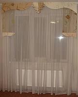 Жесткий ламбрекен Каскад салатовый 2м, фото 1