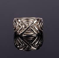 Стильное мужское серебряное кольцо головоломка от Wickerring, фото 1